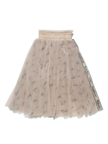 KIDSロゴ刺繍チュールスカート