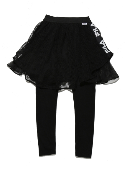 KIDS FILA ラインスカート(BLK-100)