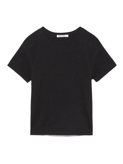 ムジTシャツ(BLK-F)