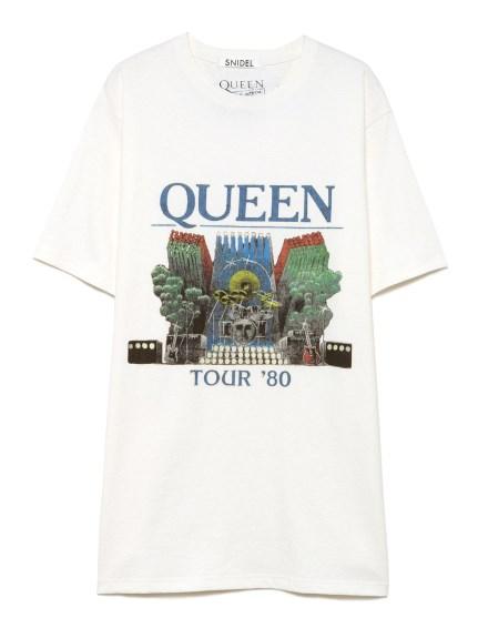 QUEEN プリントTシャツ(WHT-F)