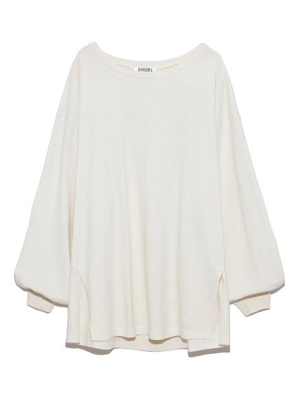 ボタニカルカラーロングTシャツ(WHT-F)