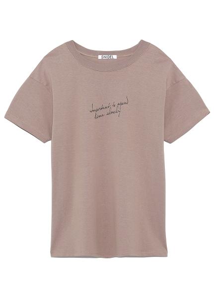 ドローイングロゴTシャツ(MOC-F)