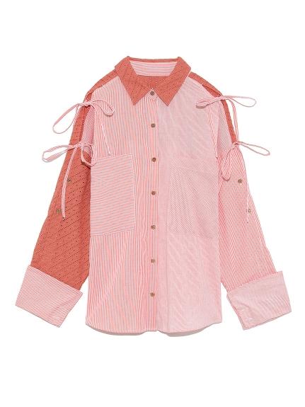 ストライプMIXシャツ(ORG-F)