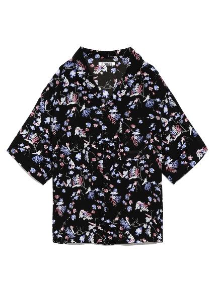 ビッグアロハシャツ(BLK-F)