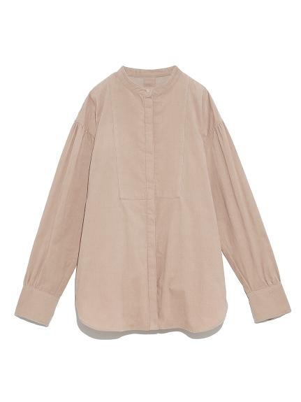 スタンドカラータキシードシャツ
