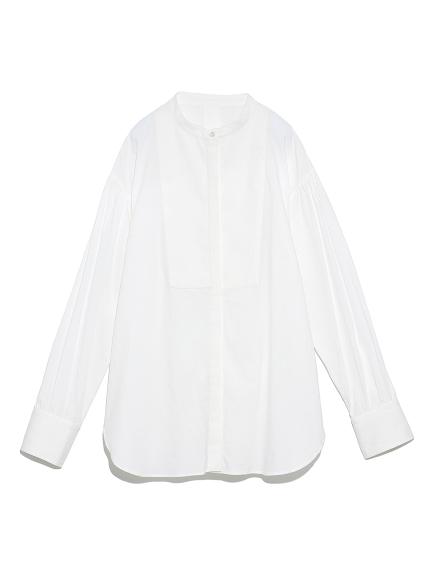 スタンドカラータキシードシャツ(WHT-0)