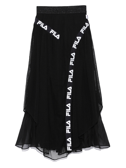 FILAラインスカート(BLK-F)