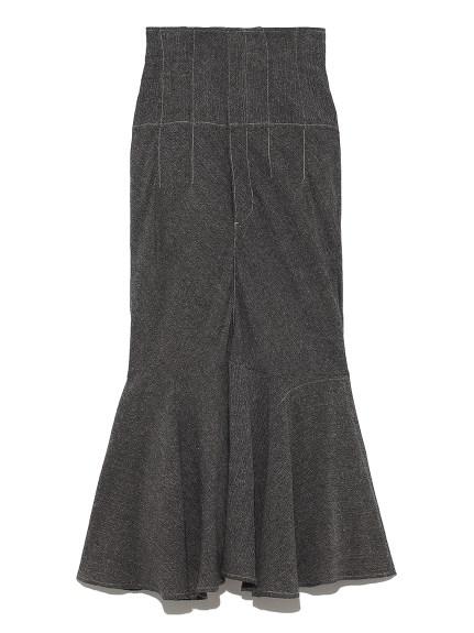コットンリネンマーメイドスカート(BLK-0)