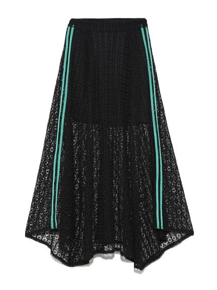 サイドラインレーススカート(BLK-0)