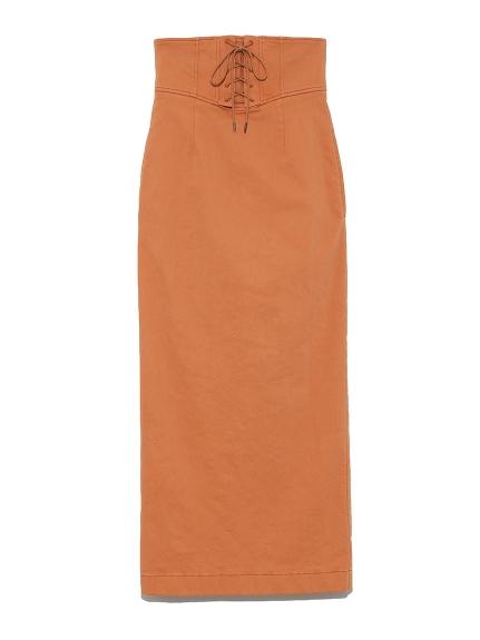 レースアップカラータイトスカート