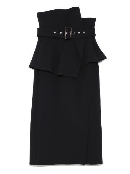 ハイウェストポンチタイトスカート(BLK-0)