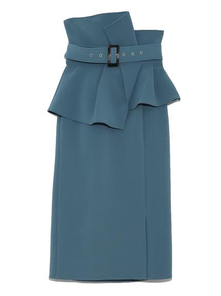 ハイウェストポンチタイトスカート(BLU-0)
