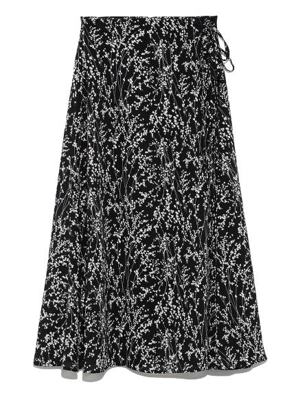 フラワーフレアーミドルスカート(BLK-0)