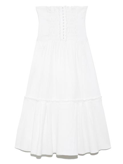 ハイウェストコルセットスカート(WHT-0)