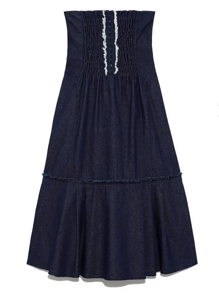 ハイウェストコルセットスカート(BLU-0)