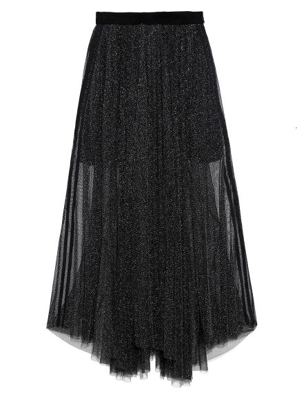 シャイニーラインスカート
