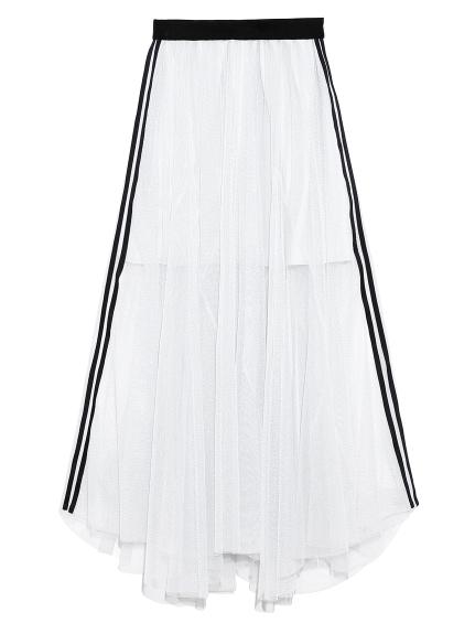 シャイニーラインスカート(WHT-F)