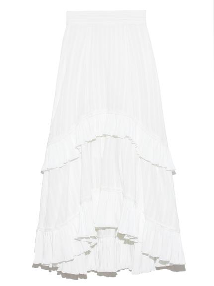 コットンレースイレヘムスカート(WHT-0)