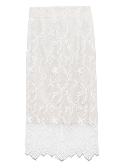パターンレースタイトスカート(WHT-0)