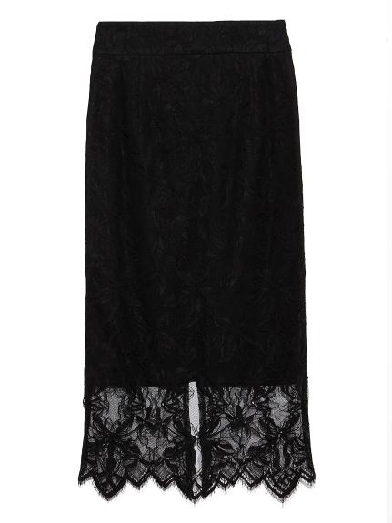 パターンレースタイトスカート(BLK-0)