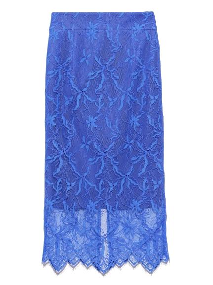 パターンレースタイトスカート(BLU-0)