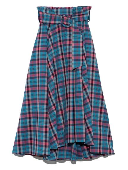 ベルトデザインミディスカート