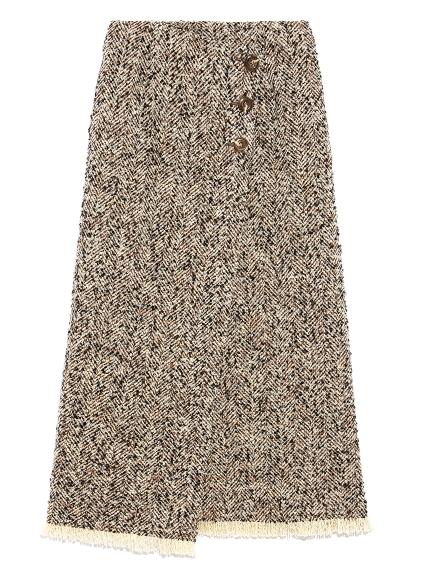 ロービングヘリンボーンスカート(BEG-0)