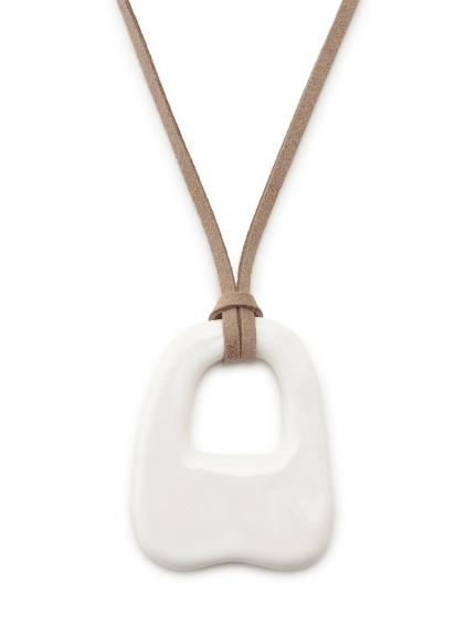 陶磁器ロングネックレス(WHT-F)